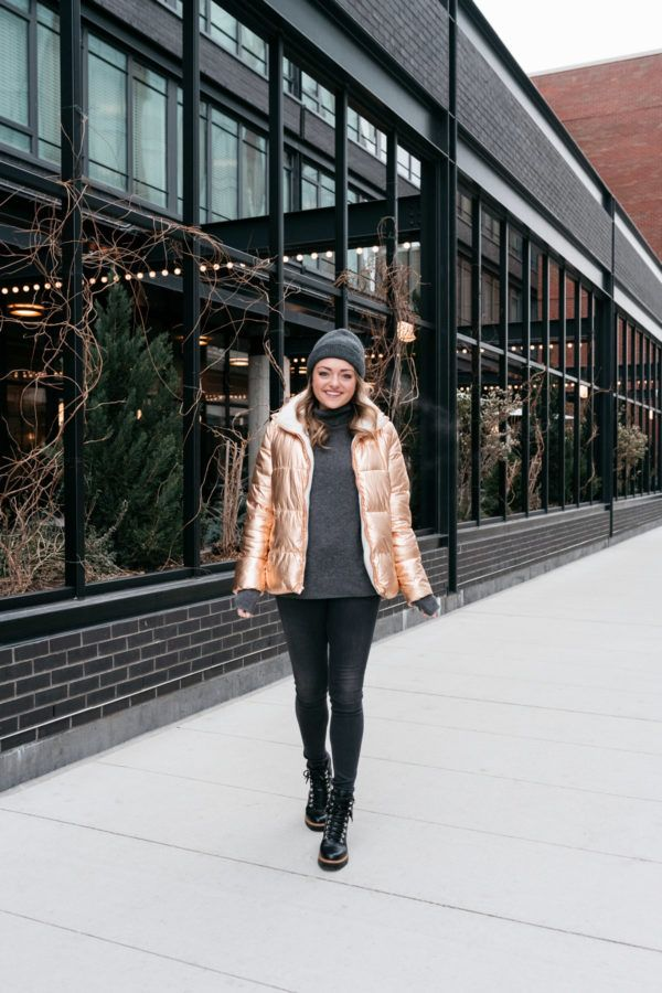 How to Style a Metallic Puffer Jacket | Statements