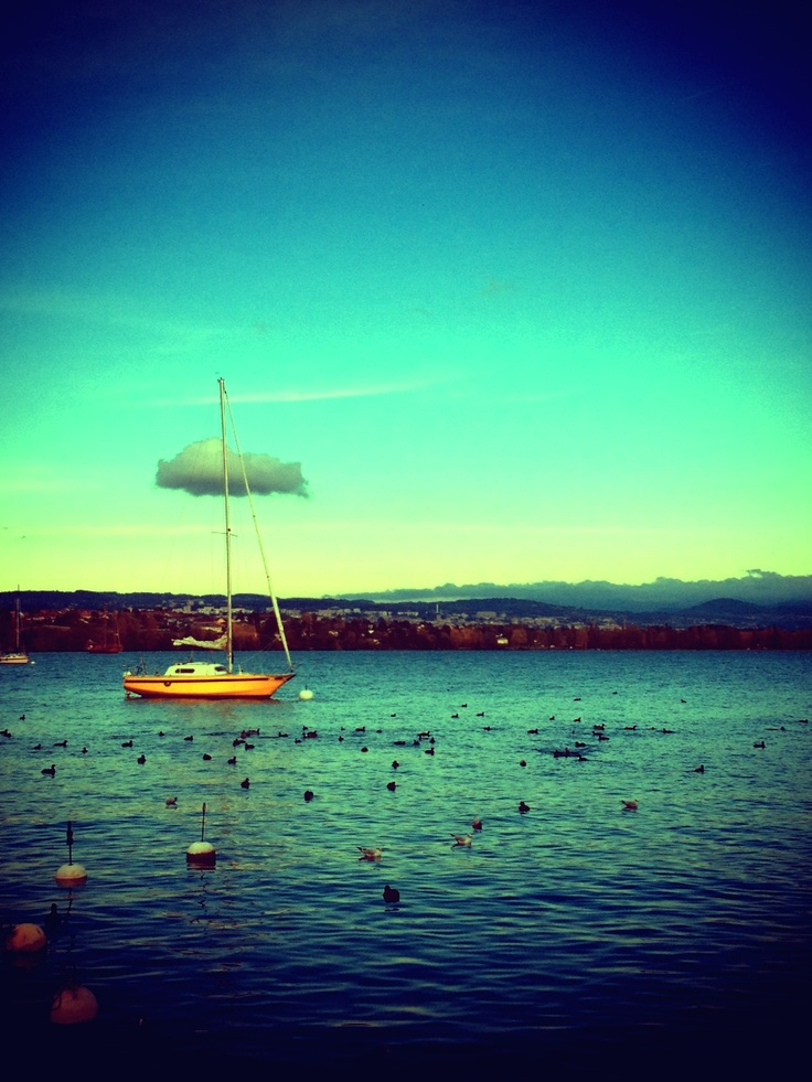 Cloudy boat * Morges * Switzerland