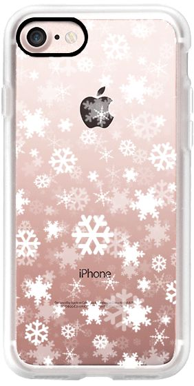 Casetify iPhone 7 Classic Grip Case - Snowflake - white by Kakel #Casetify