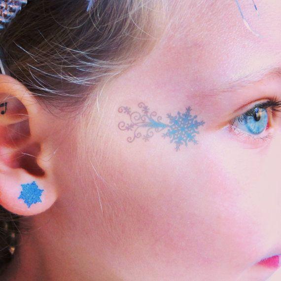 Frozen Elsa Temporary Face Tattoo for Halloween  by EARinkFun