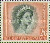 Rhodesia and Nyasaland, 1.7.1954, Queen Elizabeth II. No.13 2Sh6P carmine/black. Stamped 20,26 USD, Mint Condition 135 USD.