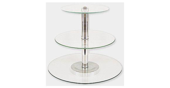 Bandeja de Vidro para Doces 3 andares Tam. M <br>Ideal para servir Brigadeiros, Beijinhos, Cupcakes, Canapés, Bolos ou o que voce imaginar. <br>Vai dar um toque especial a sua mesa. <br> <br> Em vidro temperado interligadas com tubo de alumínio. <br> <br>Dimensões do Produto: <br> <br> <br>TAMANHO M <br>Prato 1 = 28 x 28 cm <br>Prato 2 = 36 x 36 cm <br>Prato 3 = 45 x 45 cm <br> <br>Altura Total da Peça = 32cm <br> <br>PRAZO DE ENTREGA: EM ATÉ 4 DIAS PARA PRODUÇÃO,MAIS O PRAZO DOS CORREIOS.