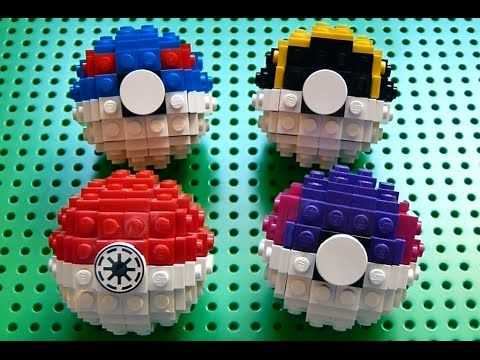 Lego Pokeball (Pokemon) + Instructions - YouTube