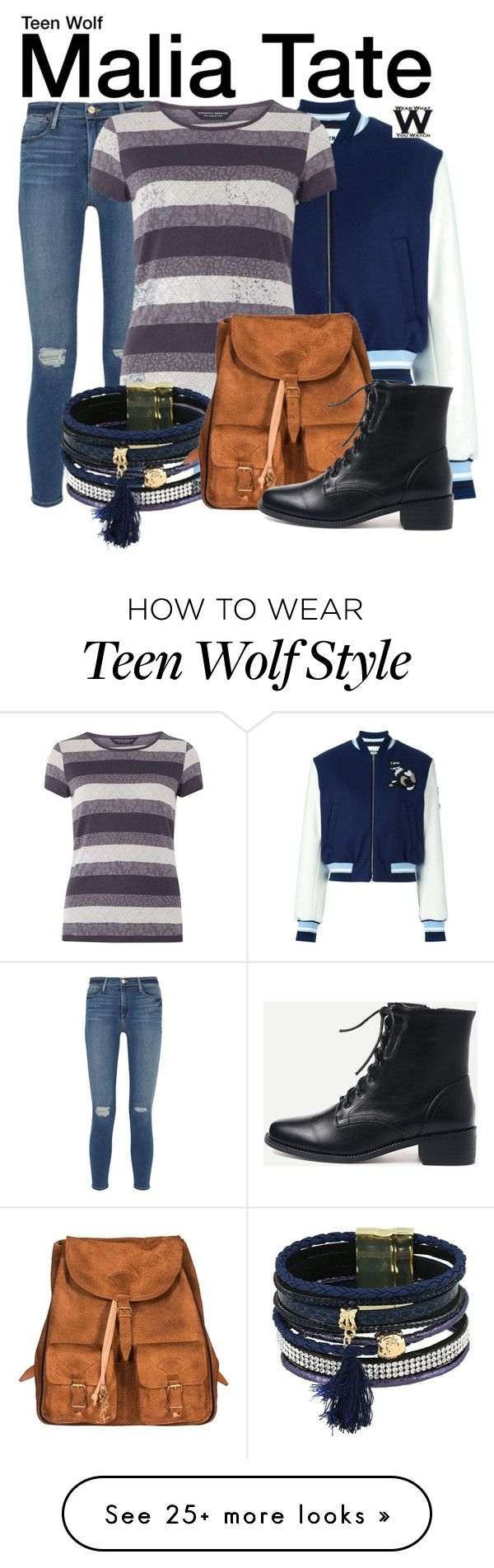 """Teen Wolf"" by wearwhatyouwatch on Polyvore featuring MSGM, Frame, Dorothy Perkins, Yves Saint Laurent, WithChic, television and wearwhatyouwatch"