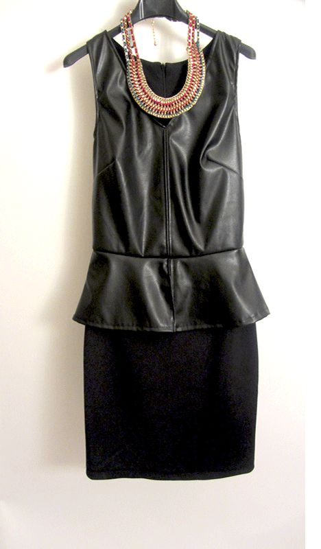 leather look dress www.hipandspoiled.com