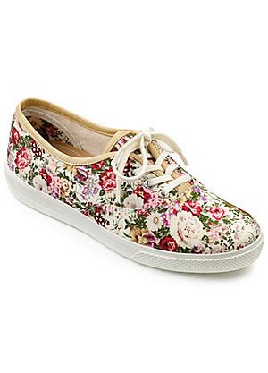 Hotter Floral Print Lace Up Pumps #kaleidoscope #shoes