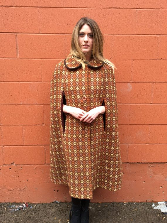 Beautiful womens 70s Vintage Retro Cape by LittleFoxCanada on Etsy