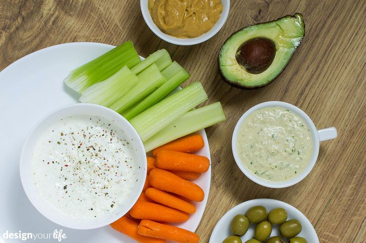 Dipy do surowych warzyw