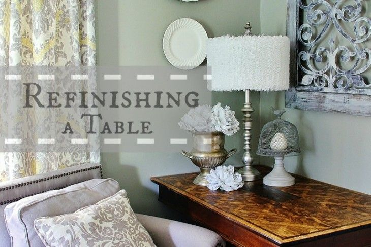 Refinishing a Table:  create a faux inlay table with three different types of stain: Idea, Furniture Makeover, Thistlewood Farm, Table Www Thistlewoodfarms Com, Color, Stains, Diy, Wood Stain, Crafts
