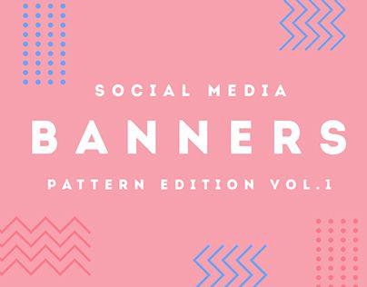 Modern Pattern Social Media Banners