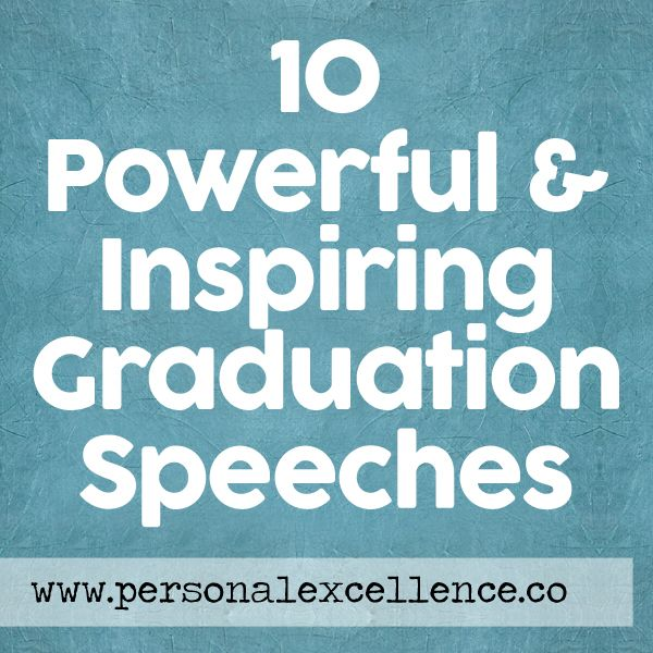 Commencement speeches have become outlets for sharing some of the most important life lessons ever. After listening to Steve Jobs' Stanford commencement speech, I was inspired to round up the best graduation speeches of all time, so all of you can enjoy the rich insights of the speakers. Read more: http://personalexcellence.co/blog/graduation-speeches/ #inspirations #speeches #commencement #graduation #stevejobs #ellendegeneres #randypausch #arnoldschwarzenegger