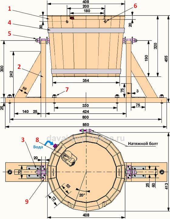 Горизонтальное обливное устройство