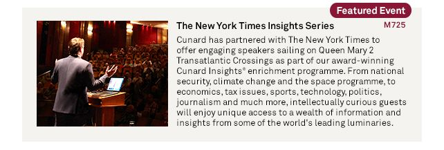 The New York Times Insights Series-http://www.cruiseshipcenters.ca/jeanninepringle - jpringle@cruiseshipcenters.com
