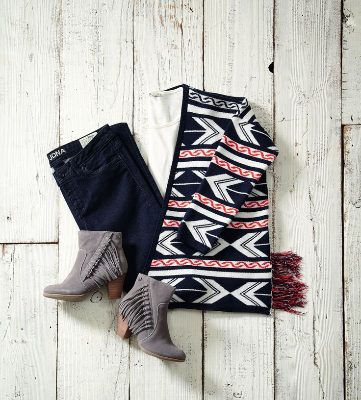 Layer up with a cosy cardigan to create the perfect winter outfit!
