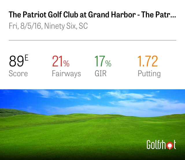 Check out my round at The Patriot Golf Club at Grand Harbor using Golfshot: https://shotzoom.com/rounds/5D8FEB07-C9E0-4837-AEAF-77C0B29CF5DE
