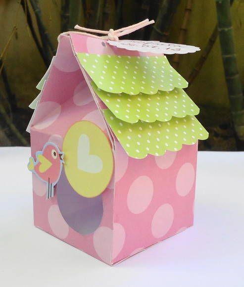 Caixa para lembrança Casa Passarinho | FUNNY PAPER | 20D477 - Elo7