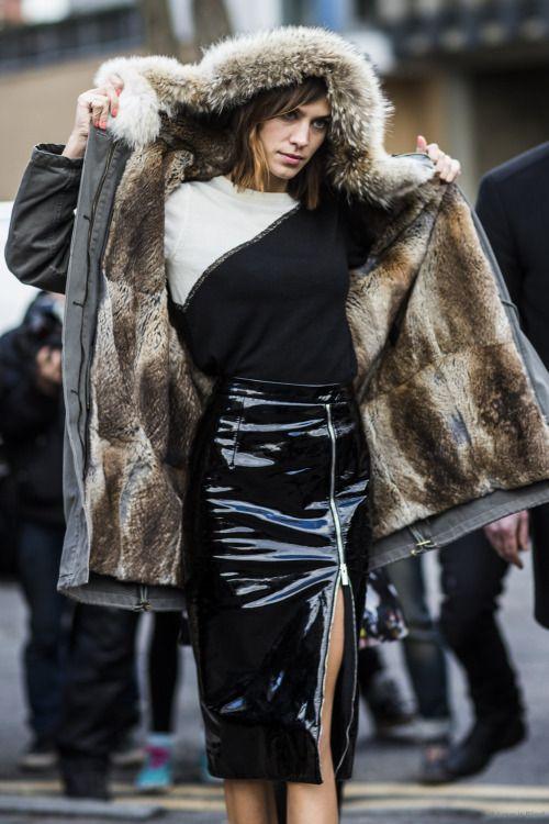 Alexa Chung - London Fashion Week Fall 2015