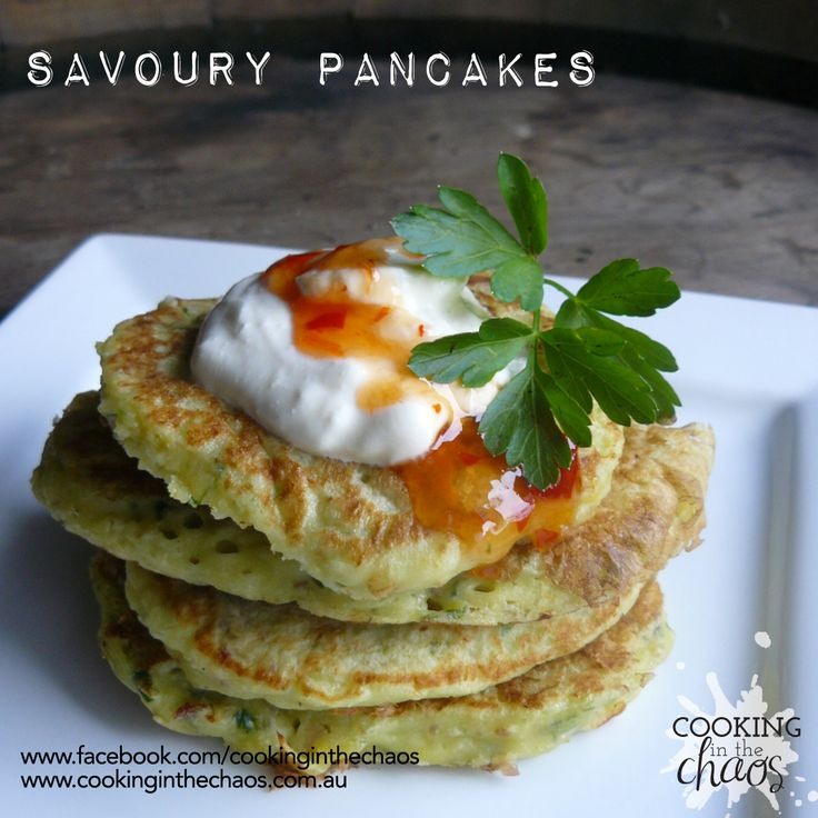Savoury Pancakes - Thermomix - Cooking in the Chaos