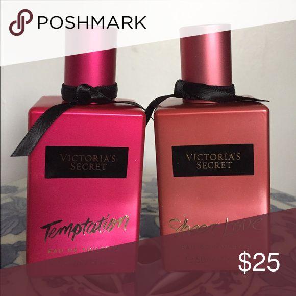 2 New Victoria Secret perfume Temptation and Sheer Love Eau de toilette Victoria's Secret Accessories