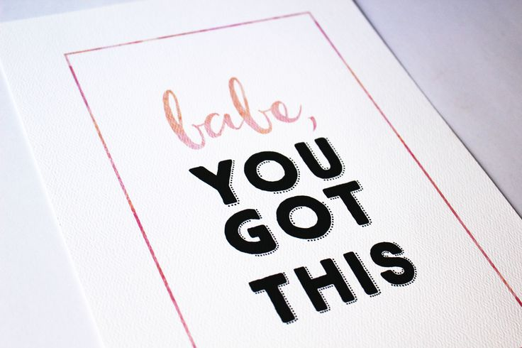You Got This Print - A daily reminder for an office or home work space. #custom #print #decor #design #office #stationery #typography #interior #goldbygrace #brisbane #inspiration #quote