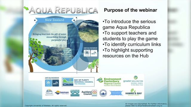 INTRO TO AQUA REPUBLICA - TEACHER PLD. Explore the inaugural New Zealand Aqua Republica Eco Challenge 2016 with Deli Connell, Andrea Soanes and guest presenter Rose Jowsey from DHI Water New Zealand. The Eco Challenge is an annual extracurricular learning event for ages 11–17. Youth around the country cantry their hand at balancing the needs of human populations with those of the environment and compete to be regional and national winners.