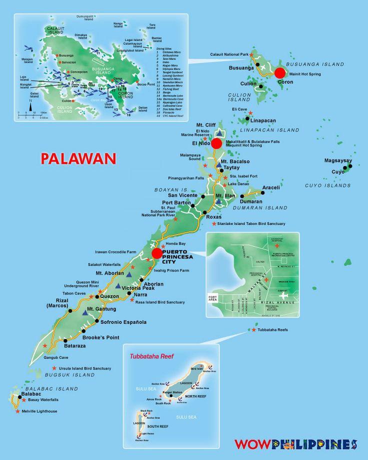 Isla Pilipina. Palawan Map                                                                                                                                                                                 More