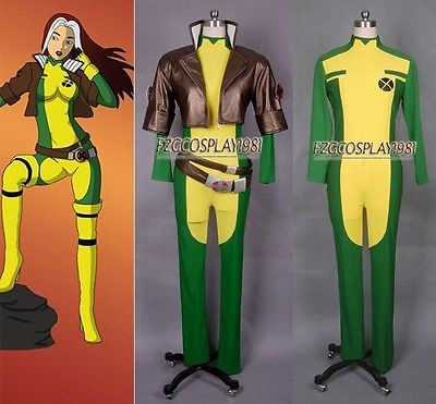 X-men  Rogue Cosplay costume anime any size FULL SET+Boots