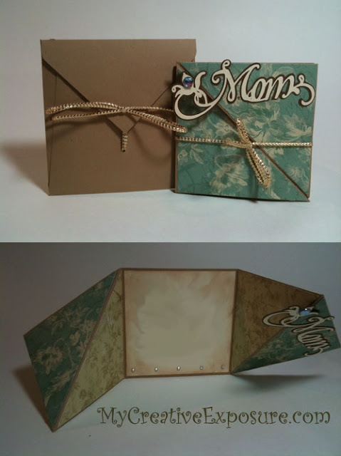 Mothers Day Card Triangle Tri Fold Card | My Creative Exposure