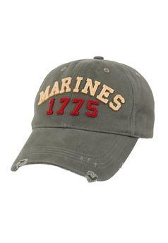 Olive Drab Marines 1775 Vintage Low Pro Cap ! Buy Now at gorillasurplus.com