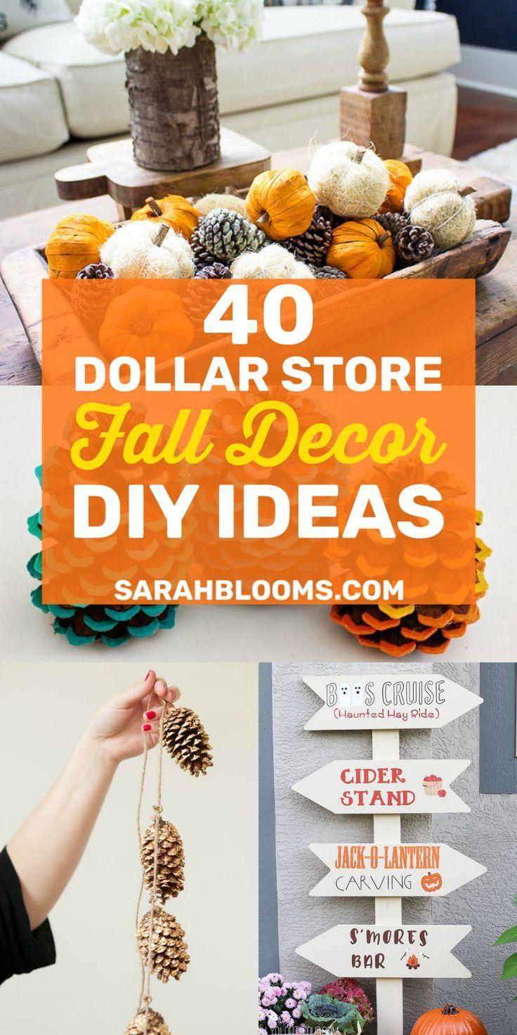 40 Must-See Dollar Store DIY Fall Décor Ideas