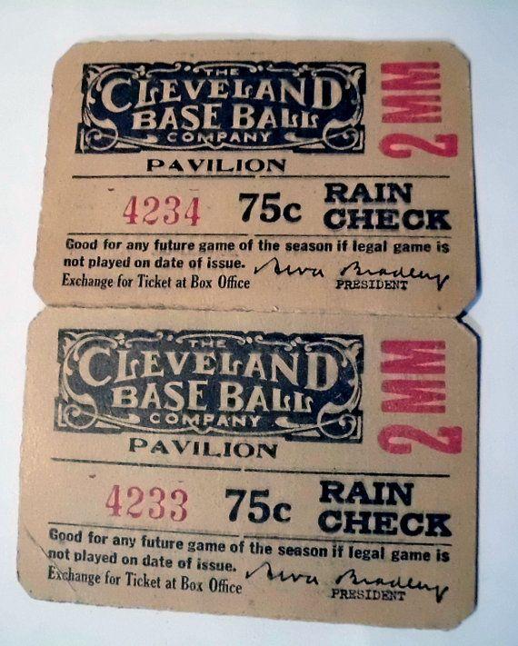 RARE Cleveland Indians League Park Game by VintageOnTheRidge