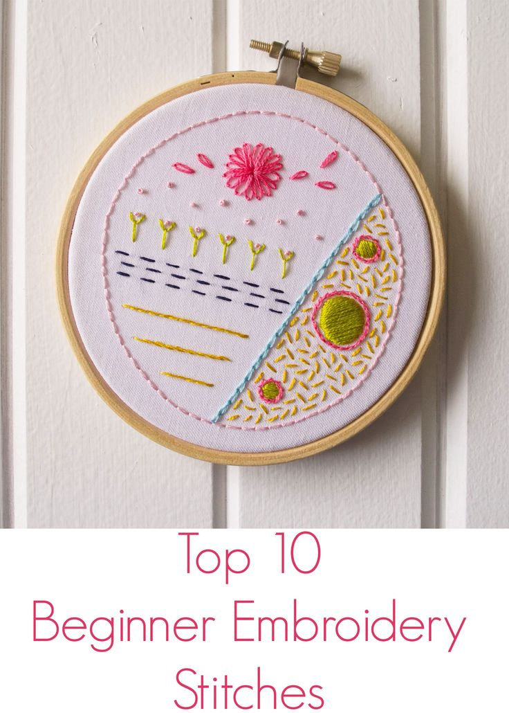 Beginner Embroidery Stitches                                                                                                                                                                                 Más