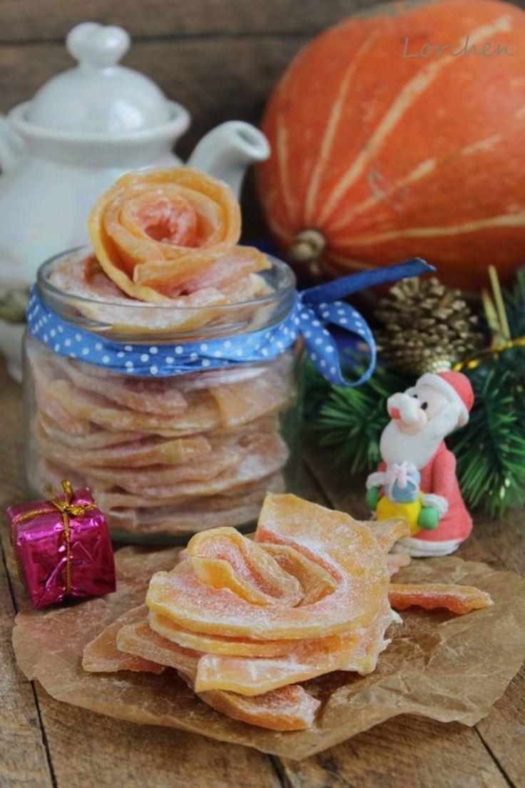 Идея новогоднего сладкого подарка: цукаты из тыквы