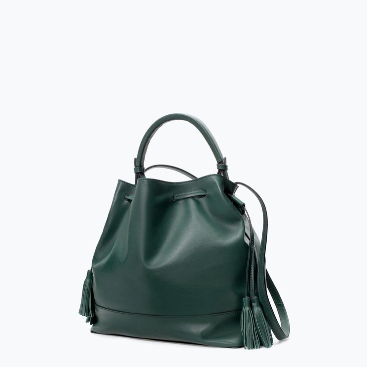 zara woman combined office. Image 2 Of LEATHER BAG WITH RIGID HANDLE From Zara Woman Combined Office