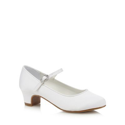 Debenhams White heeled shoes- | Debenhams