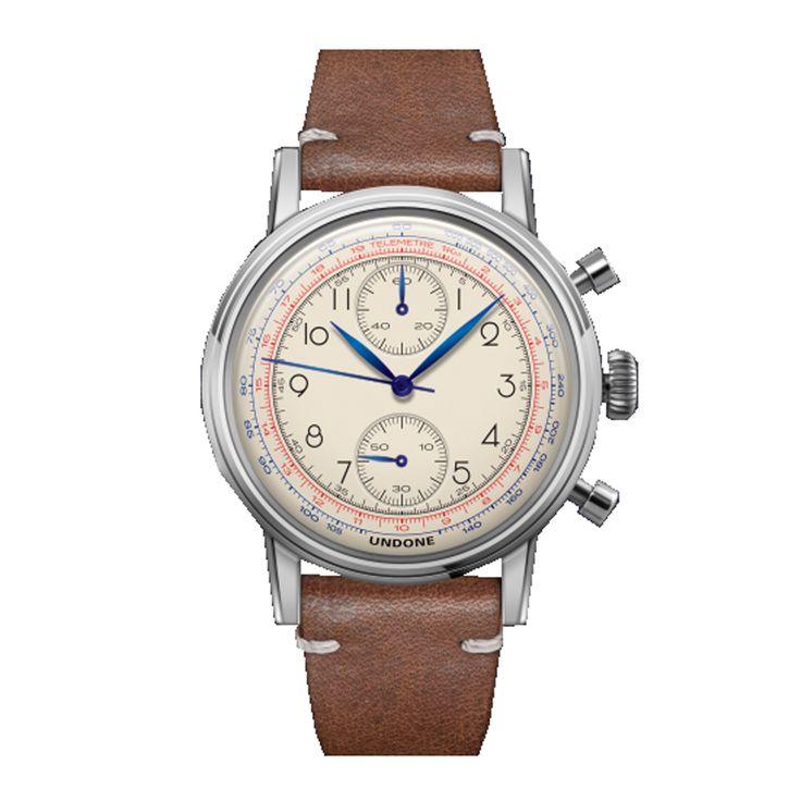 Urban collection di Undone Watches: cronografi con meccanismo ibrido meccanico-quarzo di chiara ispirazione vintage con tecnologie moderne! Cinturino vera pelle con sistema di espulsione facilitato --------------------------------------------------------------------------------- Urban collection by Undone Watches: Chronographs with mechanic-quartz hybrid mechanism, vintage inspiration with modern technologies! Genuine leather strap with ejector system facilitated