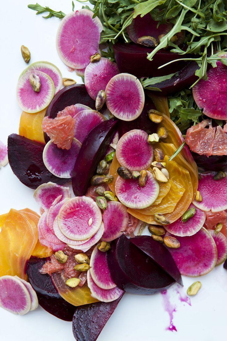 Betteraves, radis, pamplemousses ... Que de jolies couleurs !!!