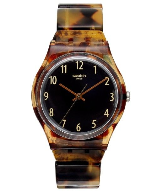 Swatch Watch Womens Swiss Ecaille Tortoise
