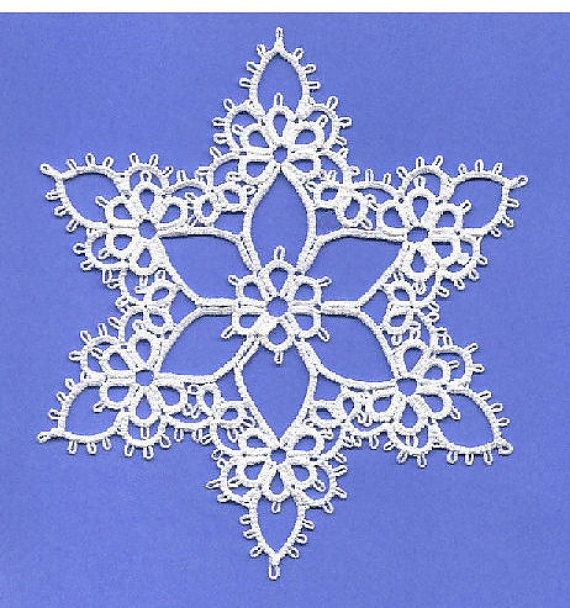 Joy Tatting Pattern PDF snowflake tatted от TattingPoints на Etsy