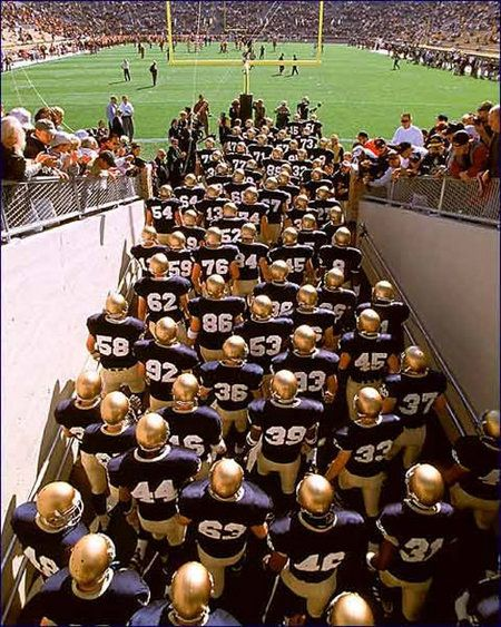 The Tunnel - The best right before the game.  GO IRISH !