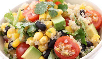Quinoa Salad With Black Beans & Avocado Recipe on Yummly