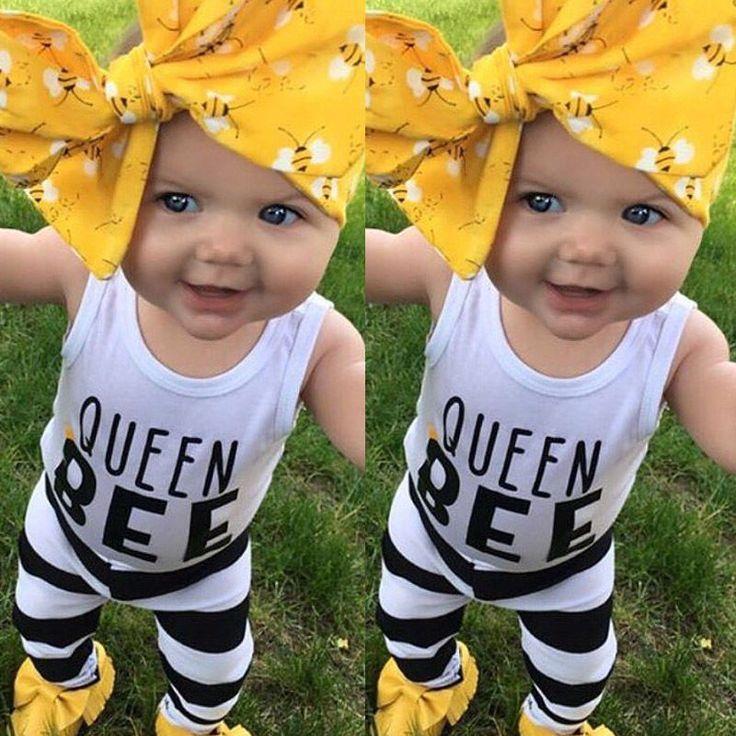 c9c236196 US Vest+Pants Newborn Baby Boys Girls Summer Outfits Headband 3pcs ...