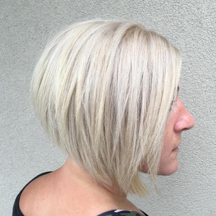 Angled Bob Haircut With Layers