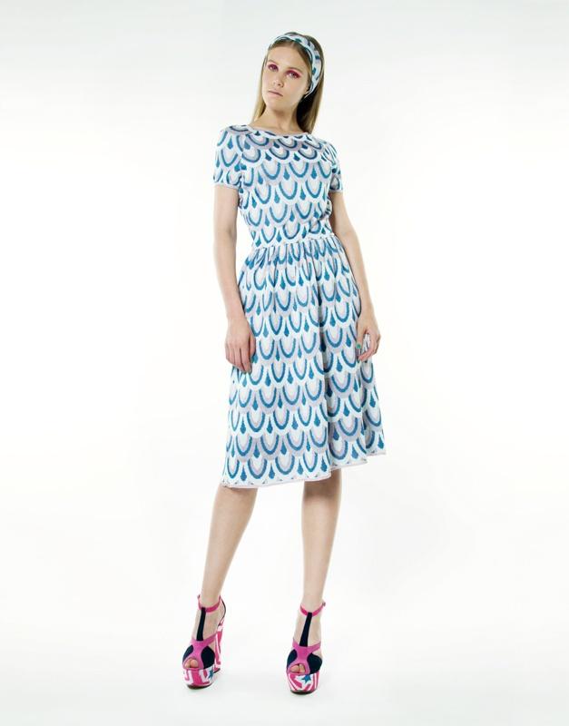 star jacquard dress - Blue Ultra Chic YZV5L