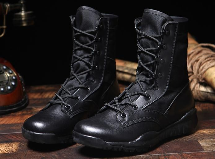 New Ultralight Men Army Boots Military Shoes Combat Tactical Ankle Boots For Men Desert/Jungle Boots Outdoor Shoes Size 38--46