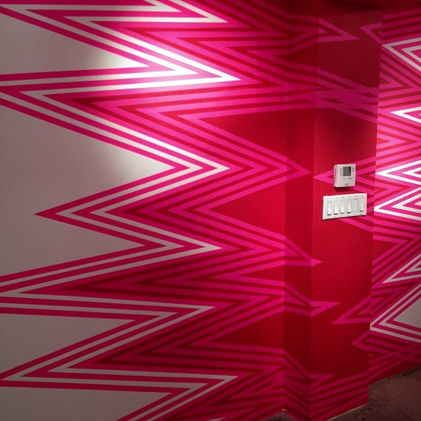 Neon Pink Interior Paint Part - 16: A Little Paint U0026 Colored Tape Make For A Most Excellent Wall. #pink #