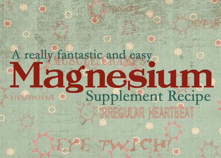 One of my favorite healthy living blogs, with an inexpensive magnesium supplement you can make from grocery store items.
