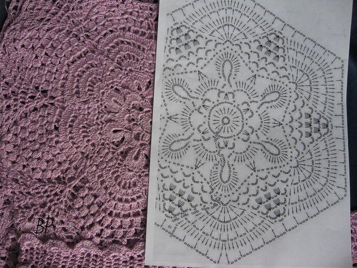 Crochet lace dress - pattern 1