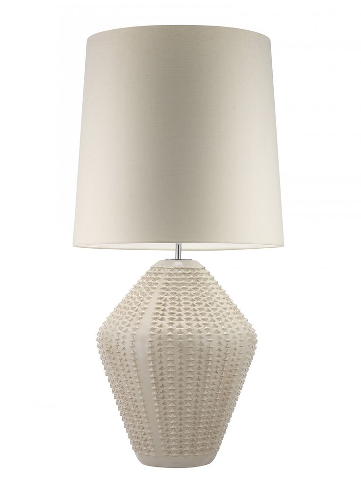 Hericus Antique Ivory Table Lamp African inspired