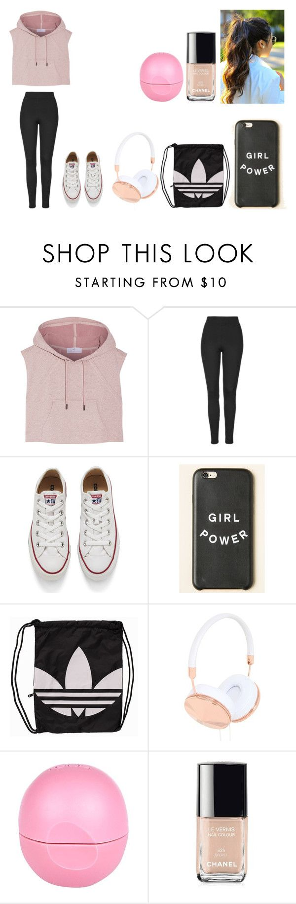 """""""Untitled #474"""" by kalieh092 on Polyvore featuring adidas, Topshop, Converse, adidas Originals, Frends, River Island, Chanel, women's clothing, women and female"""